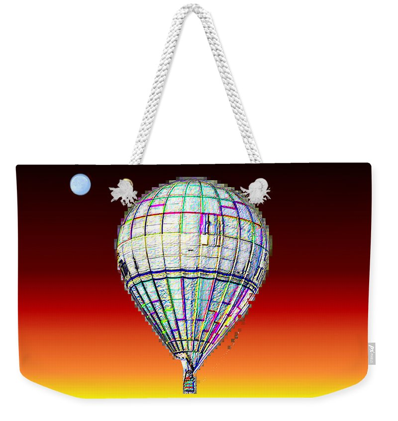 Moon Weekender Tote Bag featuring the photograph Full Moon Balloon by Tim Allen