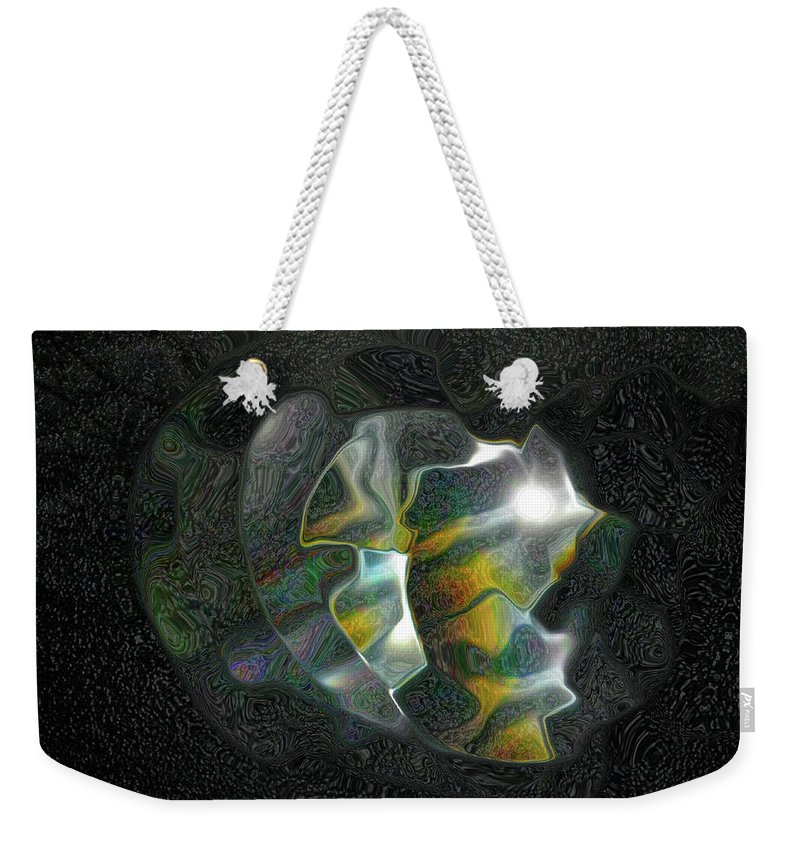 Abstract Weekender Tote Bag featuring the photograph Abstract Full Moon by Kathy Moll