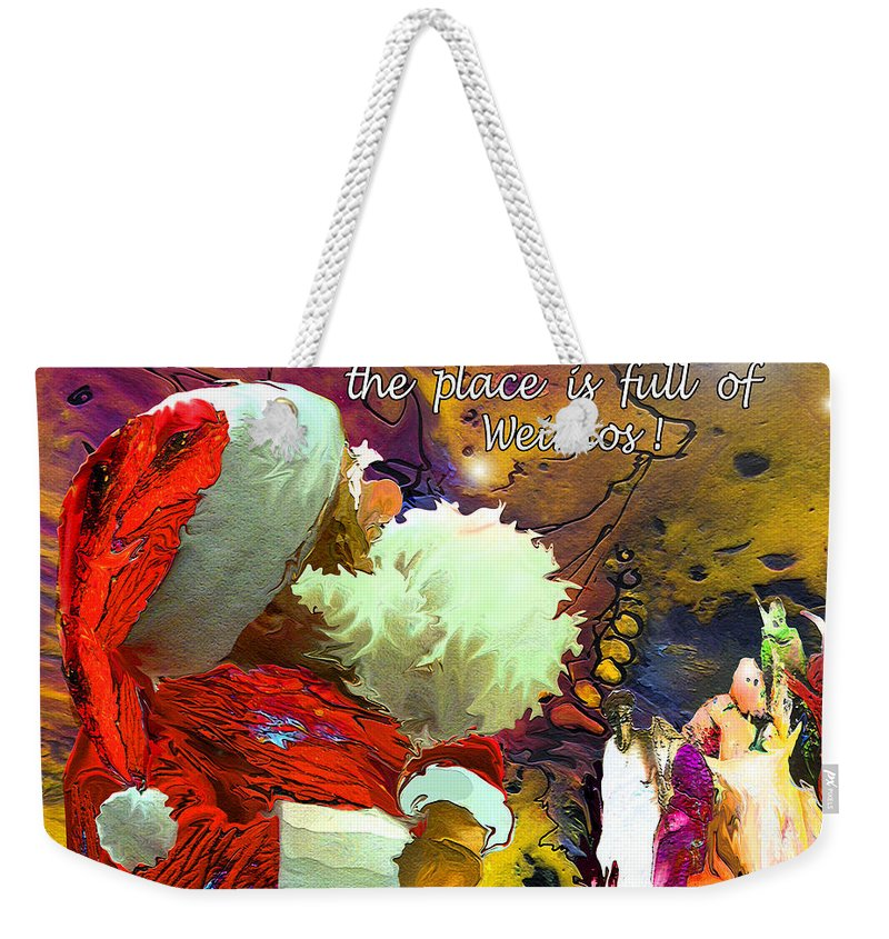 Fantasy Painting Weekender Tote Bag featuring the painting Full Moon by Miki De Goodaboom