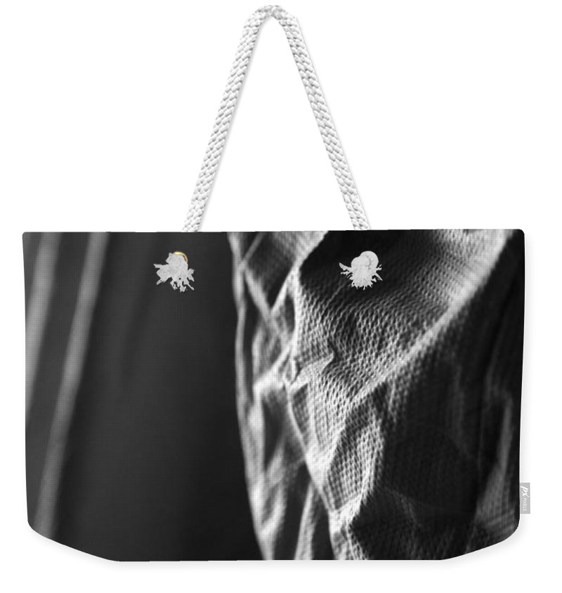 White Weekender Tote Bag featuring the photograph Full Of Empty Series - Solid by Amanda Barcon