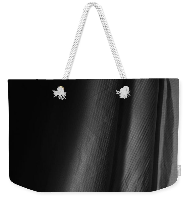 White Weekender Tote Bag featuring the photograph Full Of Empty Series - Sounds Of The Ocean by Amanda Barcon