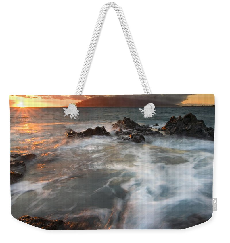 Cauldron Weekender Tote Bag featuring the photograph Full To The Brim by Mike Dawson