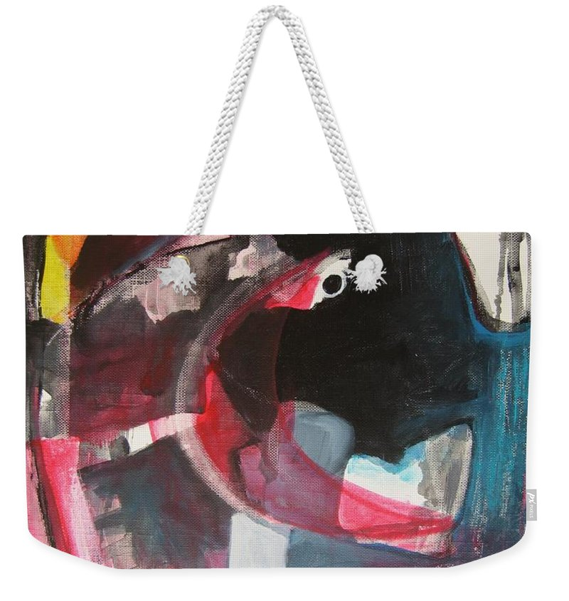 Abstract Paintings Paintings Abstract Art Paintings Weekender Tote Bag featuring the painting Fumbling With Memory by Seon-Jeong Kim