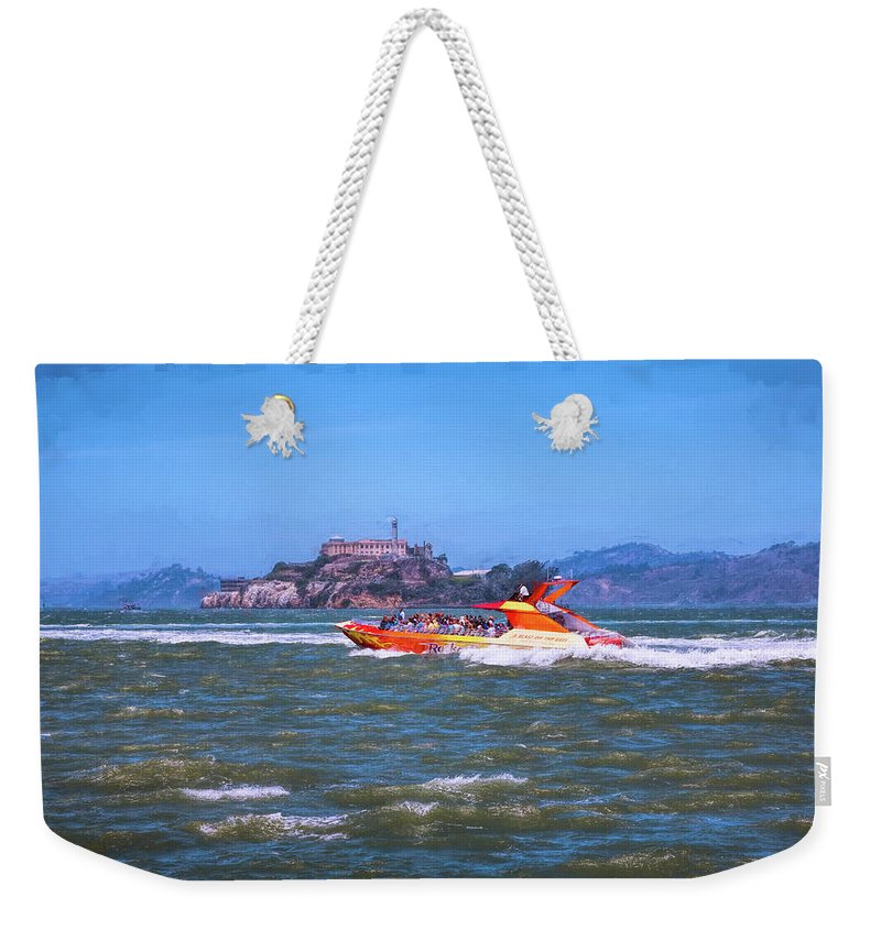 Alcatraz Weekender Tote Bag featuring the photograph Fun On San Francisco Bay by John M Bailey