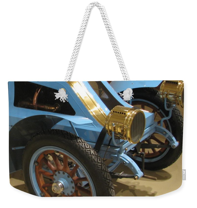Car Weekender Tote Bag featuring the photograph Fun On Wheels by Kelly Mezzapelle