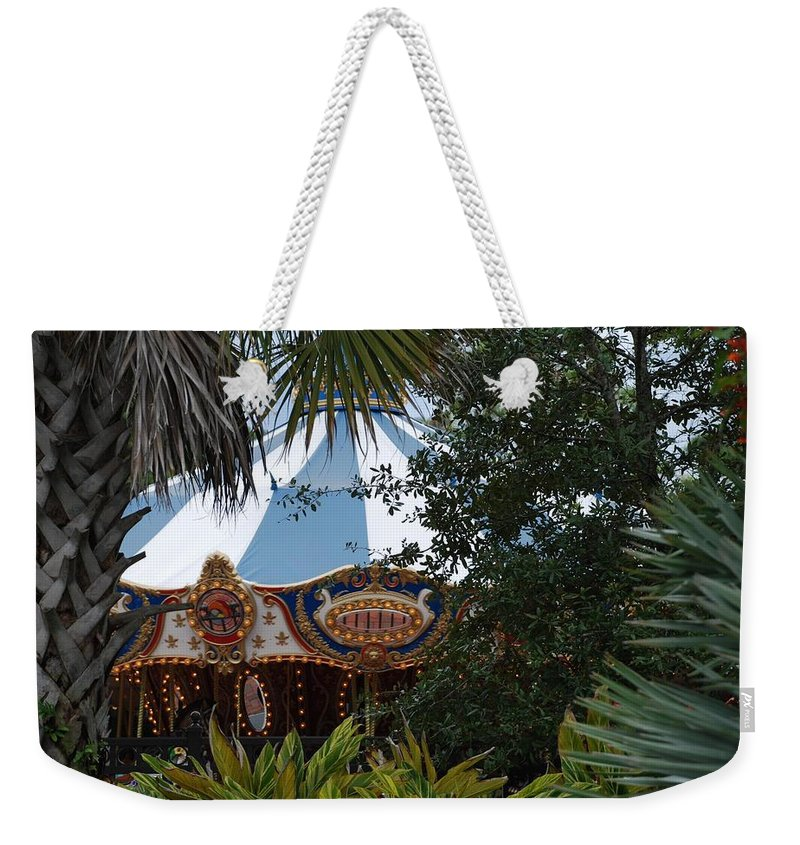 Architecture Weekender Tote Bag featuring the photograph Fun Thru The Trees by Rob Hans