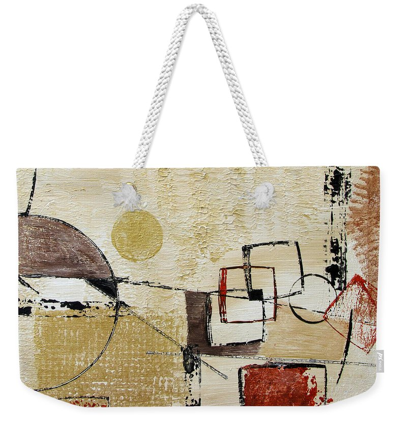 Abstract Weekender Tote Bag featuring the painting Fun With Shapes by Ruth Palmer