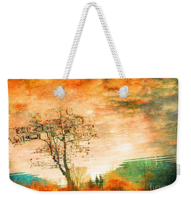 Tree Weekender Tote Bag featuring the photograph Funky Reflections by Tara Turner