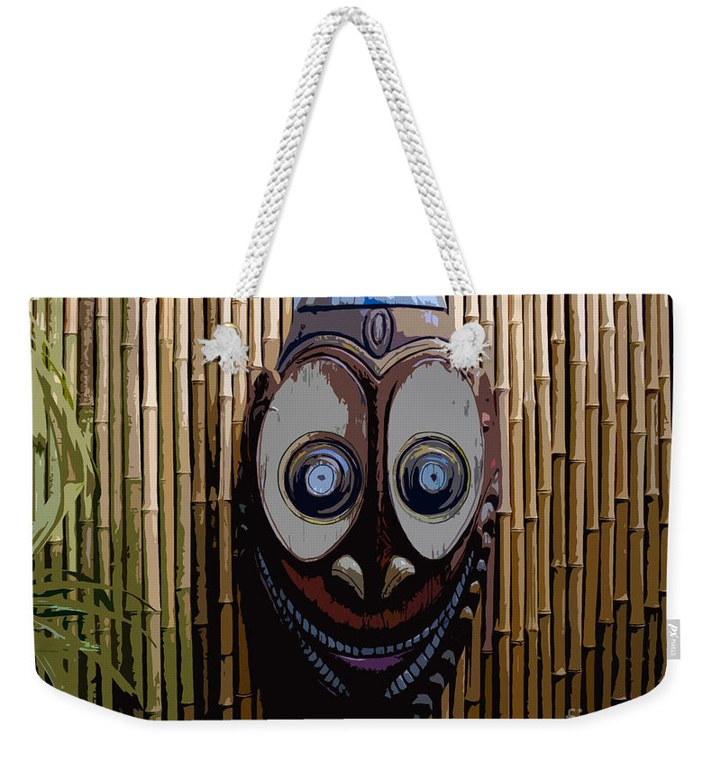 Funny Weekender Tote Bag featuring the digital art Funny Face by David Lee Thompson