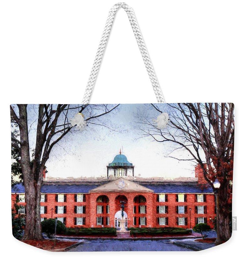 Furman University Weekender Tote Bag featuring the photograph Furman University Judson Hall by Carol Montoya