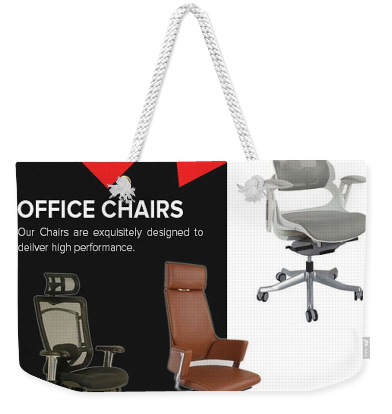 Online Office Chairs Abu Dhabi Weekender Tote Bag featuring the pastel Furniture Supplier Of Online Office Chairs Abu Dhabi by Mahmayi