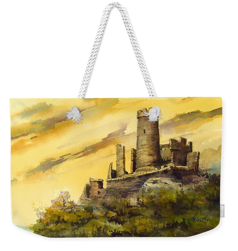 Castle Weekender Tote Bag featuring the painting Furstenburg On The Rhine by Sam Sidders