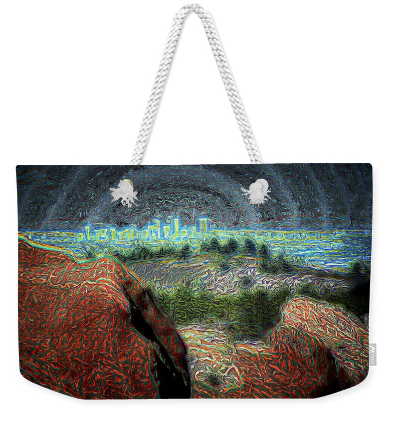 Photographs Framed Weekender Tote Bag featuring the photograph Denver by Doug Johnston