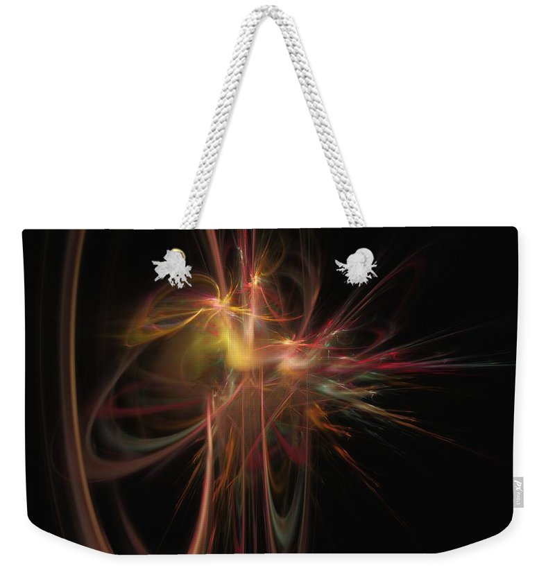 Abstract Digital Painting Weekender Tote Bag featuring the digital art Fusion by David Lane