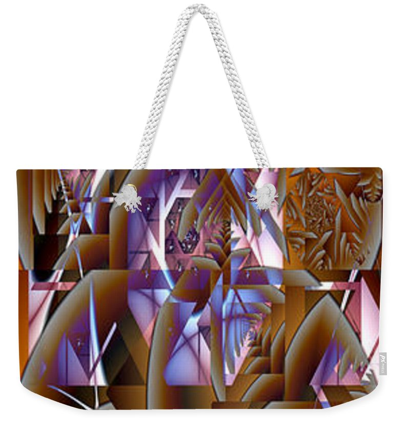 Fractal Weekender Tote Bag featuring the digital art Future Gothic by Richard Ortolano