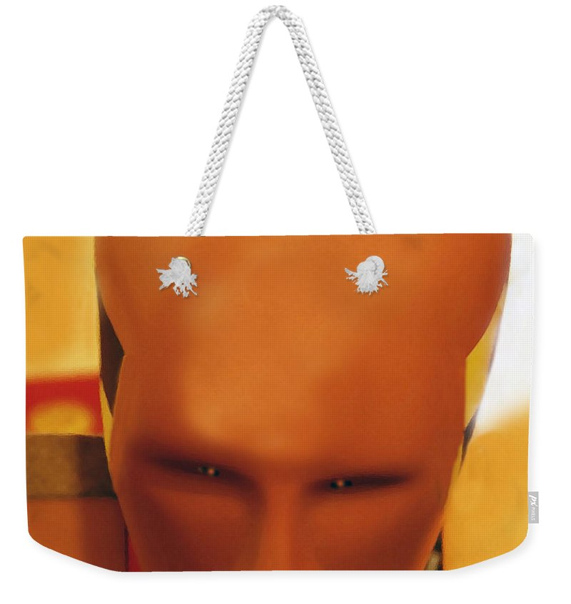 Future Weekender Tote Bag featuring the photograph Future Man by David Lee Thompson