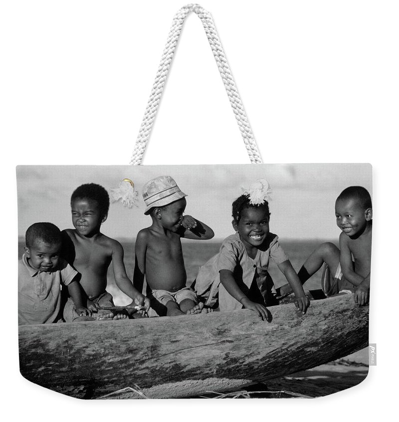 Children Weekender Tote Bag featuring the photograph Future Sailors by Bruce J Robinson