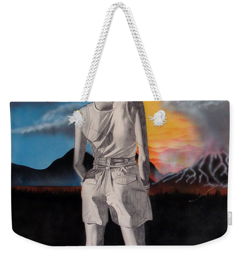Shaun Weekender Tote Bag featuring the painting Future by Shaun McNicholas