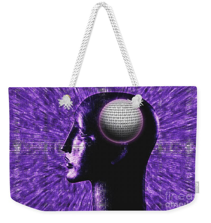 Computers Weekender Tote Bag featuring the photograph Futuristic Communications by George Mattei