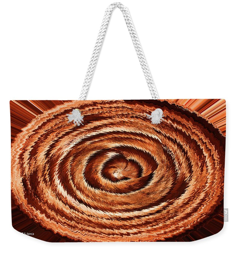 Fuzzy Rock Abstract Weekender Tote Bag featuring the photograph Fuzzy Rock Abstract by Tom Janca