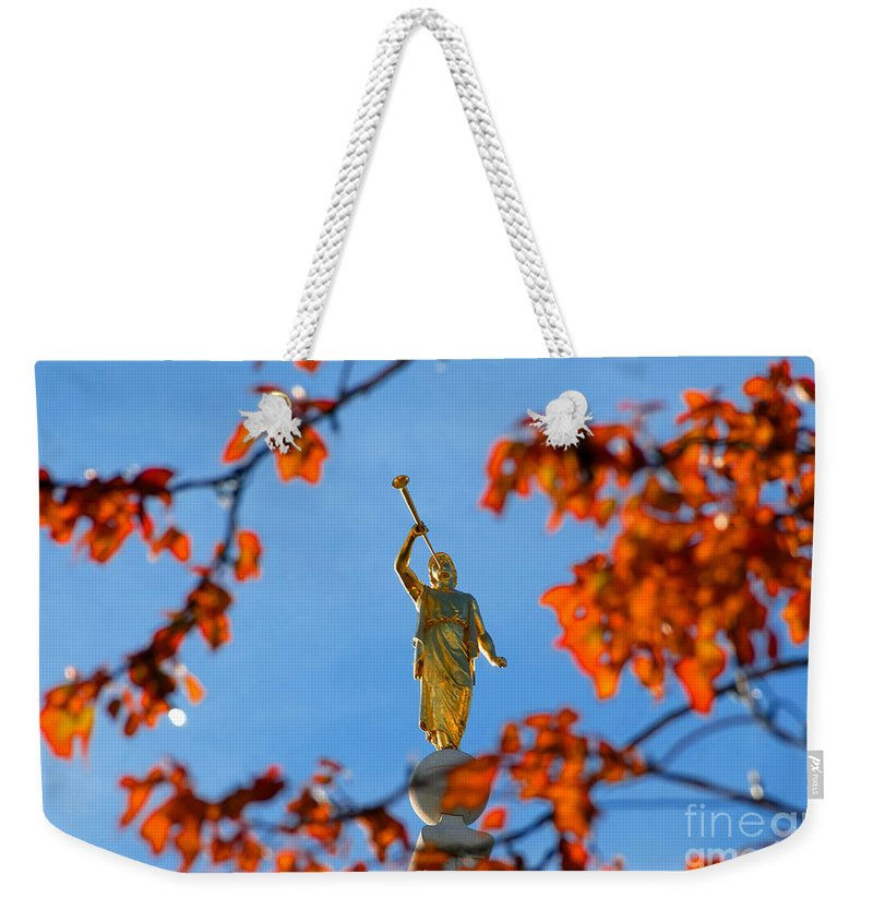 Trumpet Weekender Tote Bag featuring the photograph Gabriel's Trumpet by David Lee Thompson