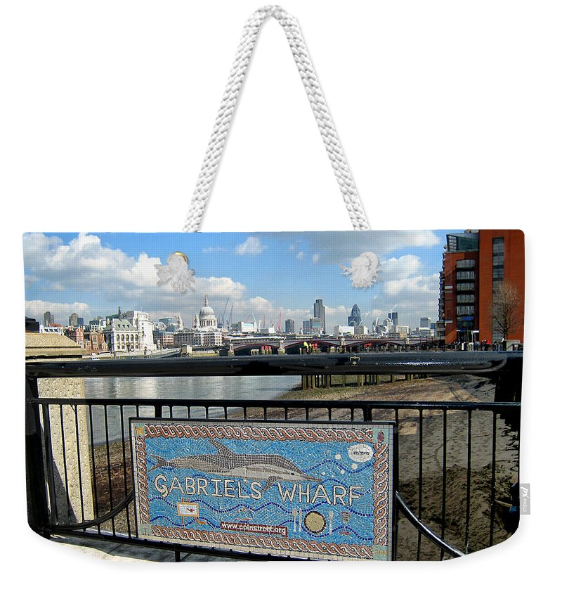 Wharf Weekender Tote Bag featuring the photograph Gabriel's Wharf by Madeline Ellis