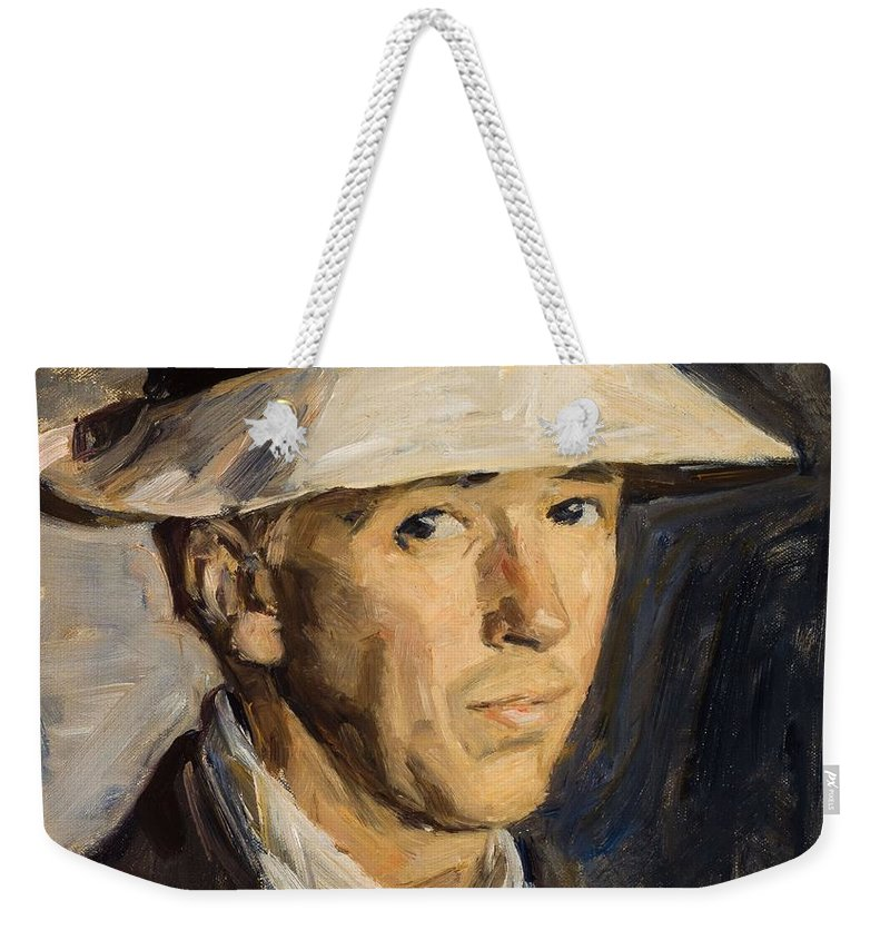 Man Weekender Tote Bag featuring the painting Gad Frederik Clement  Einar Hein by Gad Frederik Clement