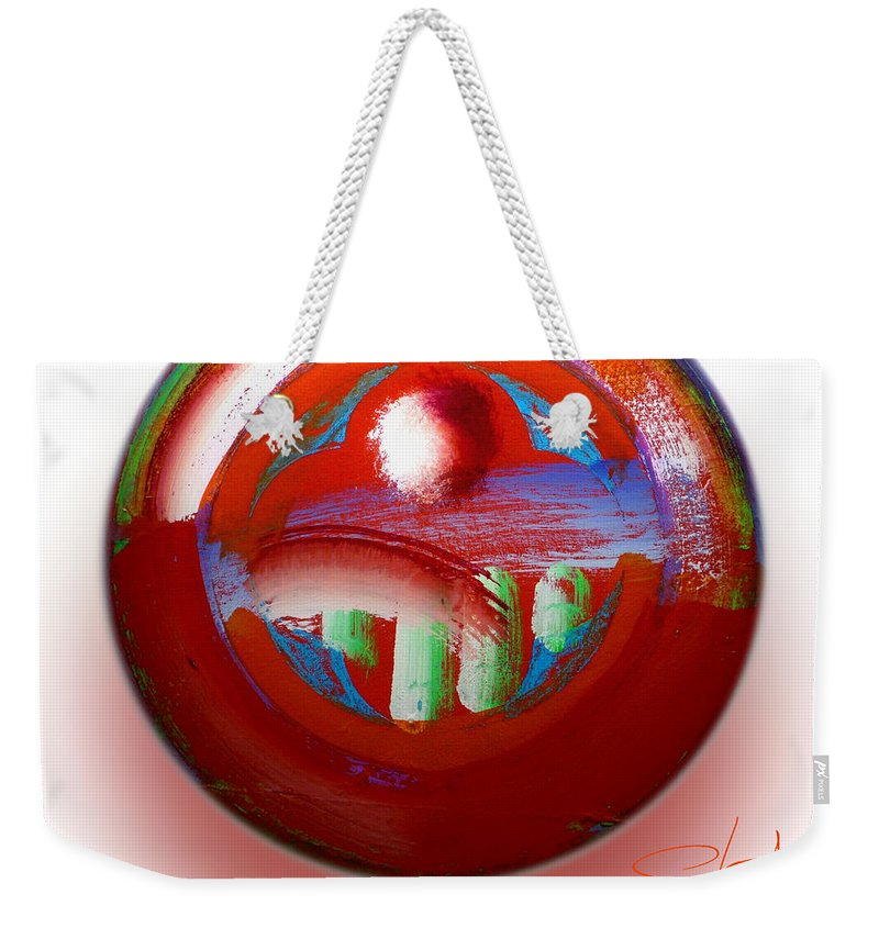 Mother Earth Weekender Tote Bag featuring the painting Gaeia by Charles Stuart