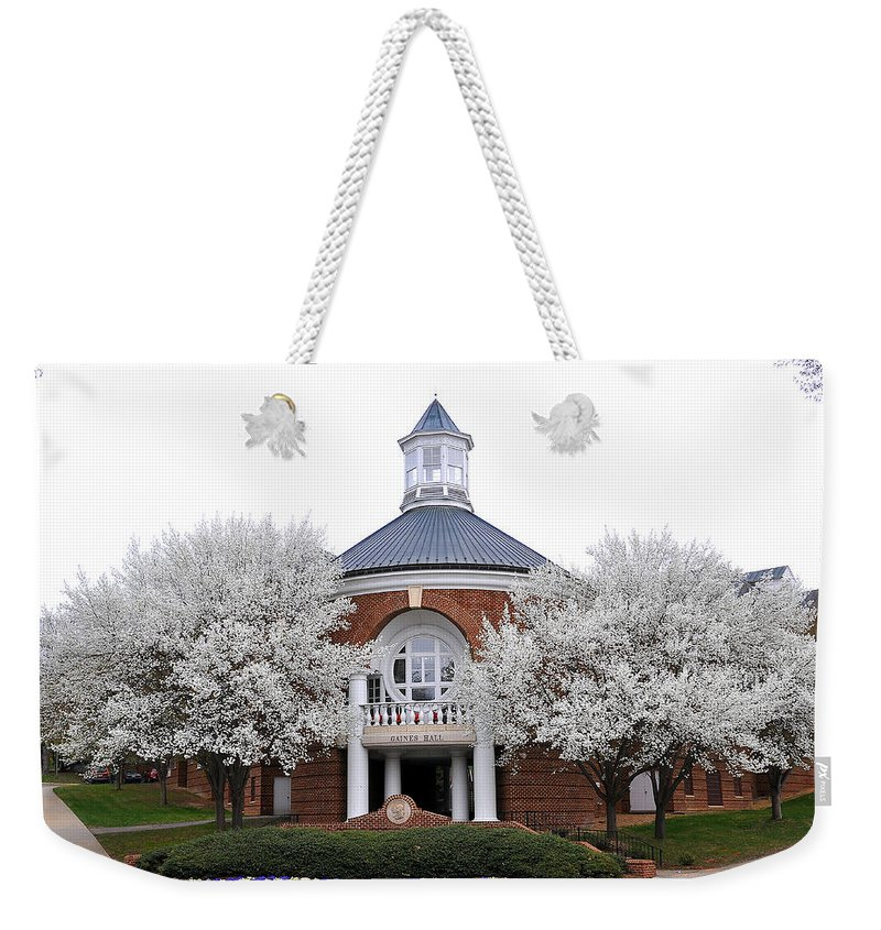 Gains Hall Weekender Tote Bag featuring the photograph Gains Hall by Todd Hostetter