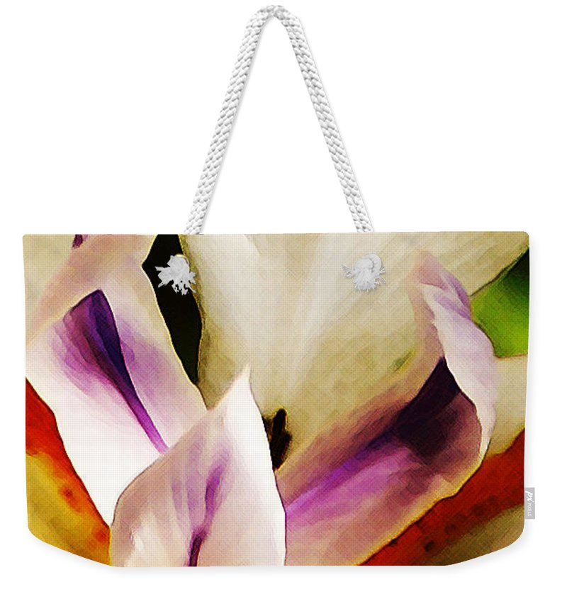 Flower Weekender Tote Bag featuring the photograph Gala by Linda Shafer