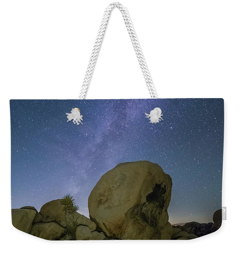 Milky Way Weekender Tote Bag featuring the photograph Galactic Desert by ChrisAntoniniPhotography