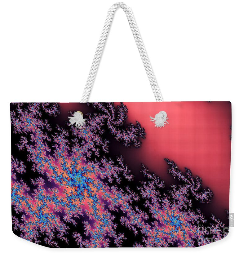 Clay Weekender Tote Bag featuring the digital art Galaxies by Clayton Bruster