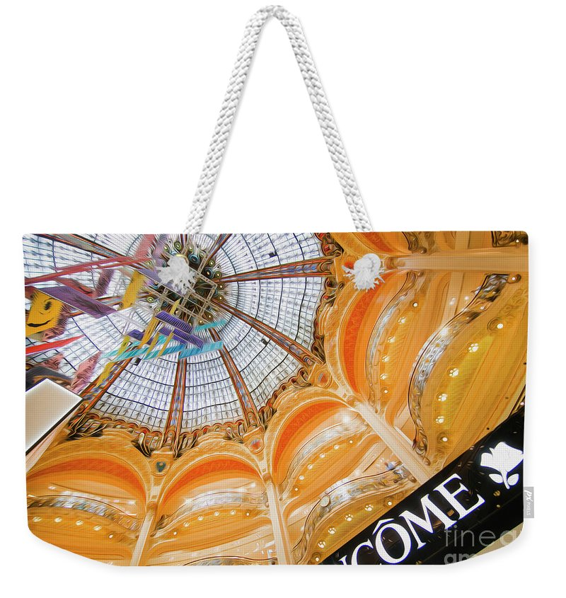 Galeries Lafayette Weekender Tote Bag featuring the photograph Galeries Lafayette Inside Art by Alex Art and Photo