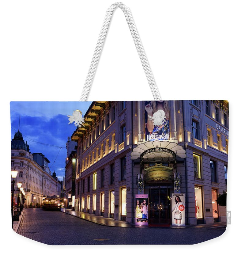 Urbanc House Weekender Tote Bag featuring the photograph Gallerija Emporium Luxury Department Store In The Urbanc House O by Reimar Gaertner