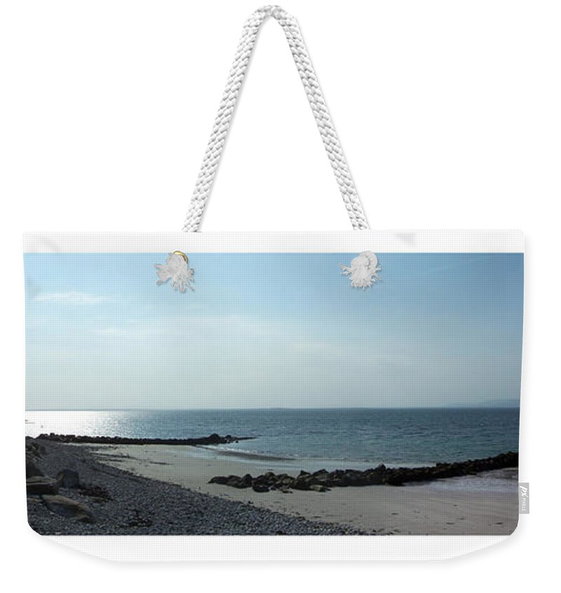Irish Weekender Tote Bag featuring the photograph Galway Bay At Salt Hill Park Galway Ireland by Teresa Mucha