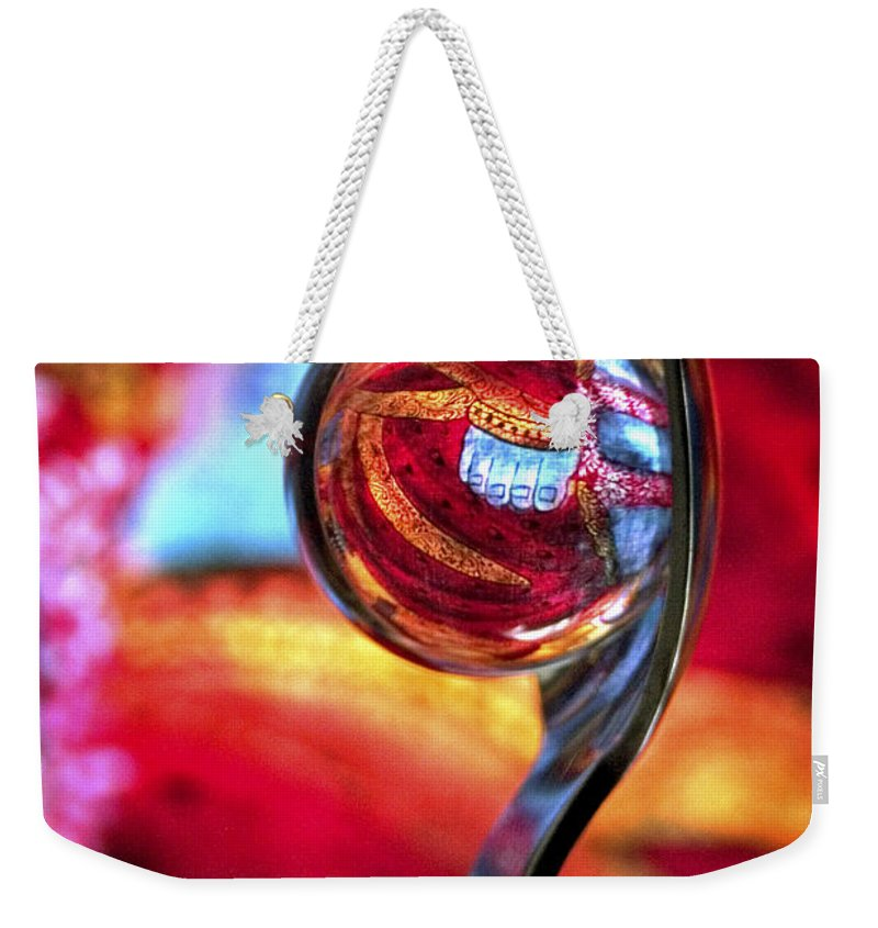 Ball Weekender Tote Bag featuring the photograph Ganesh Spoon by Skip Hunt