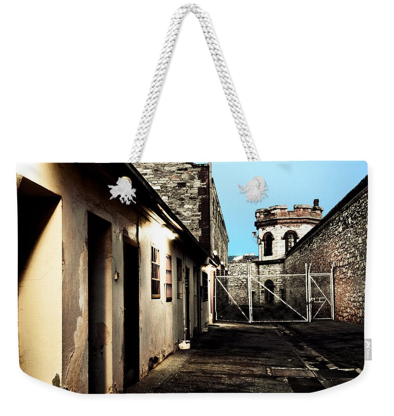 Old Weekender Tote Bag featuring the photograph Gaol by Kelly Jade King