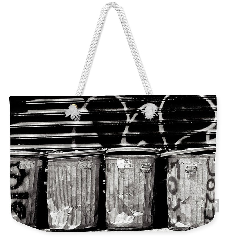 Garbage Weekender Tote Bag featuring the photograph Garbage by Madeline Ellis