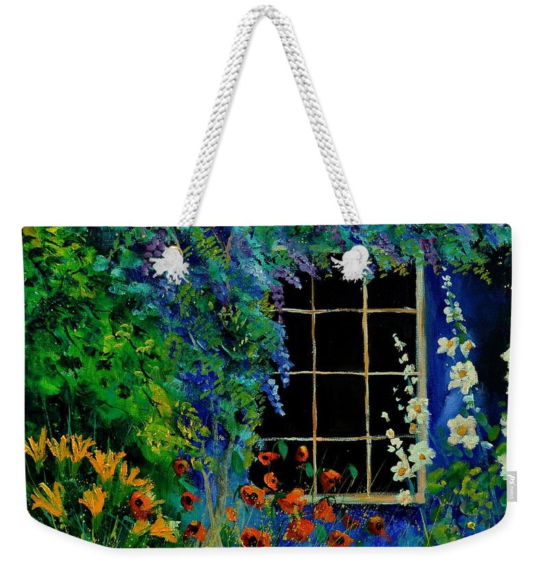 Flowers Weekender Tote Bag featuring the painting Garden 88 by Pol Ledent