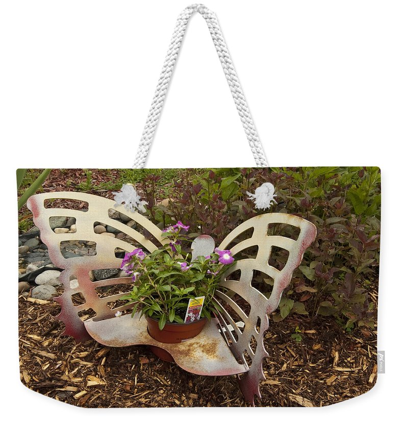 St. Clair County Weekender Tote Bag featuring the photograph Garden Art by Paul Cannon
