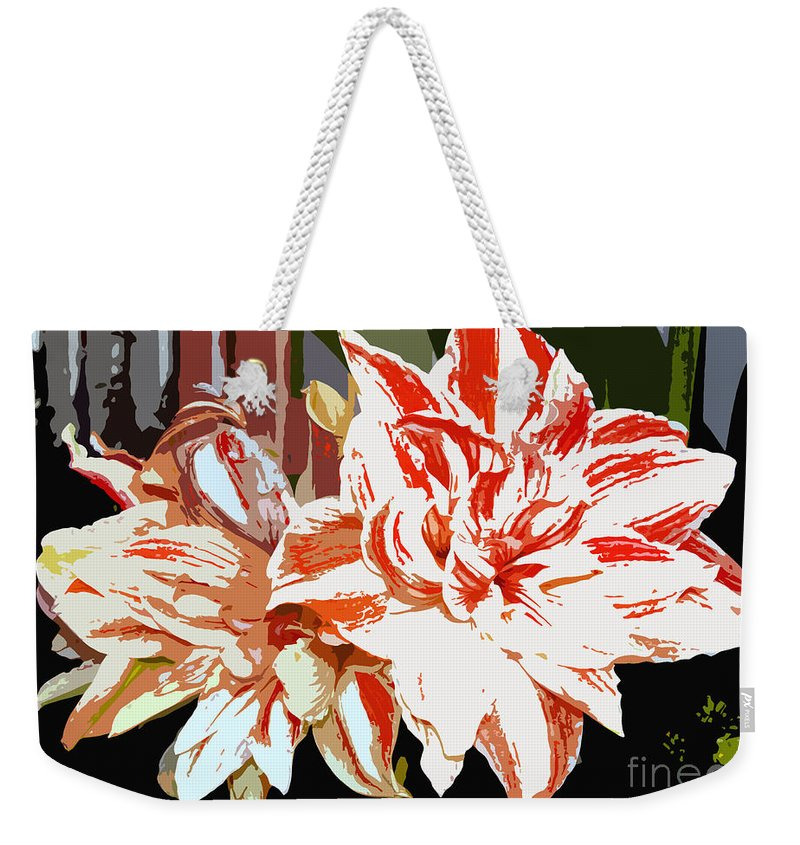 Flowers.tropical Weekender Tote Bag featuring the photograph Garden Beauty Work Number 30 by David Lee Thompson