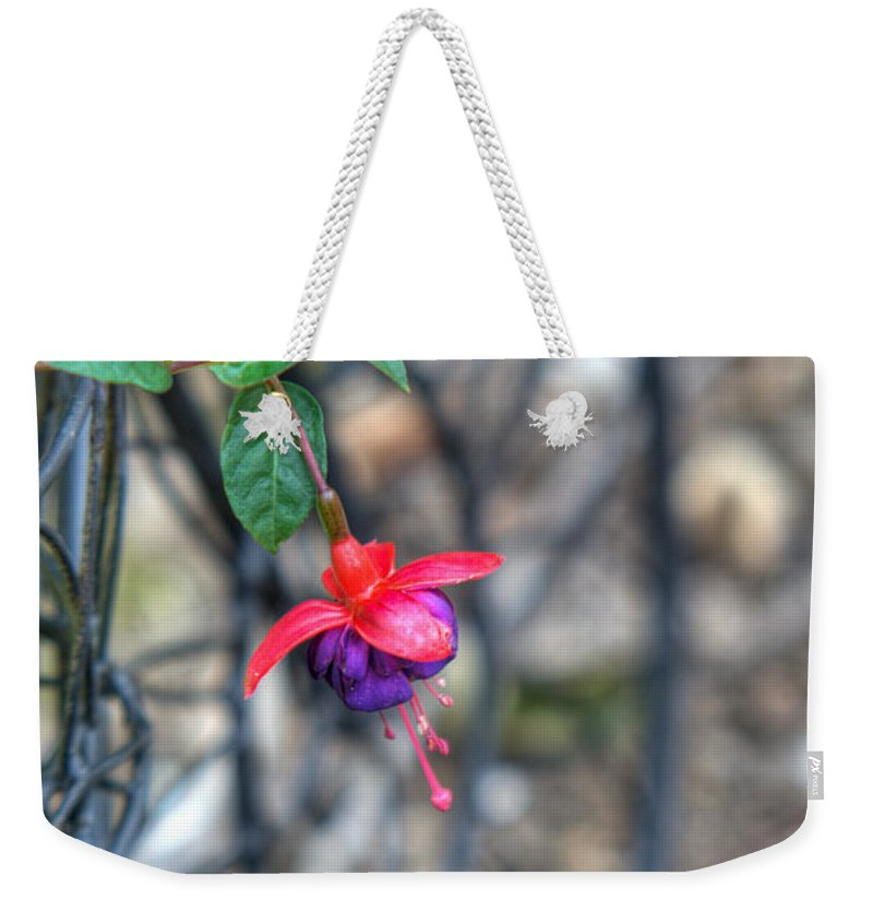 Fuchia Weekender Tote Bag featuring the photograph Garden Delight by Douglas Barnett