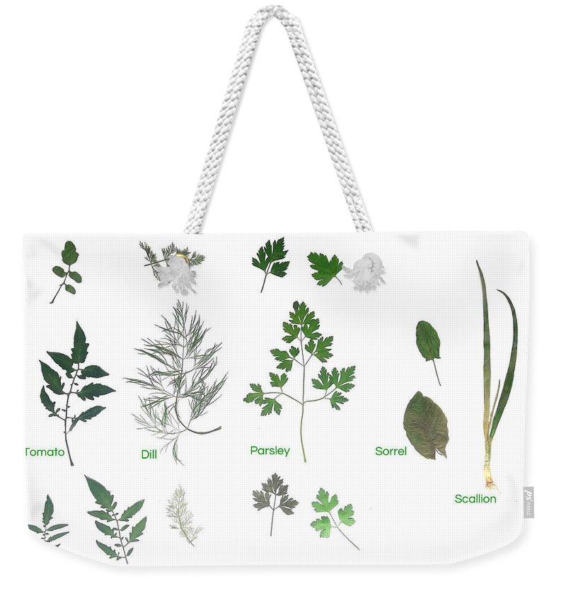 Garden Leaves Weekender Tote Bag featuring the photograph Garden Herbs by Tibi K