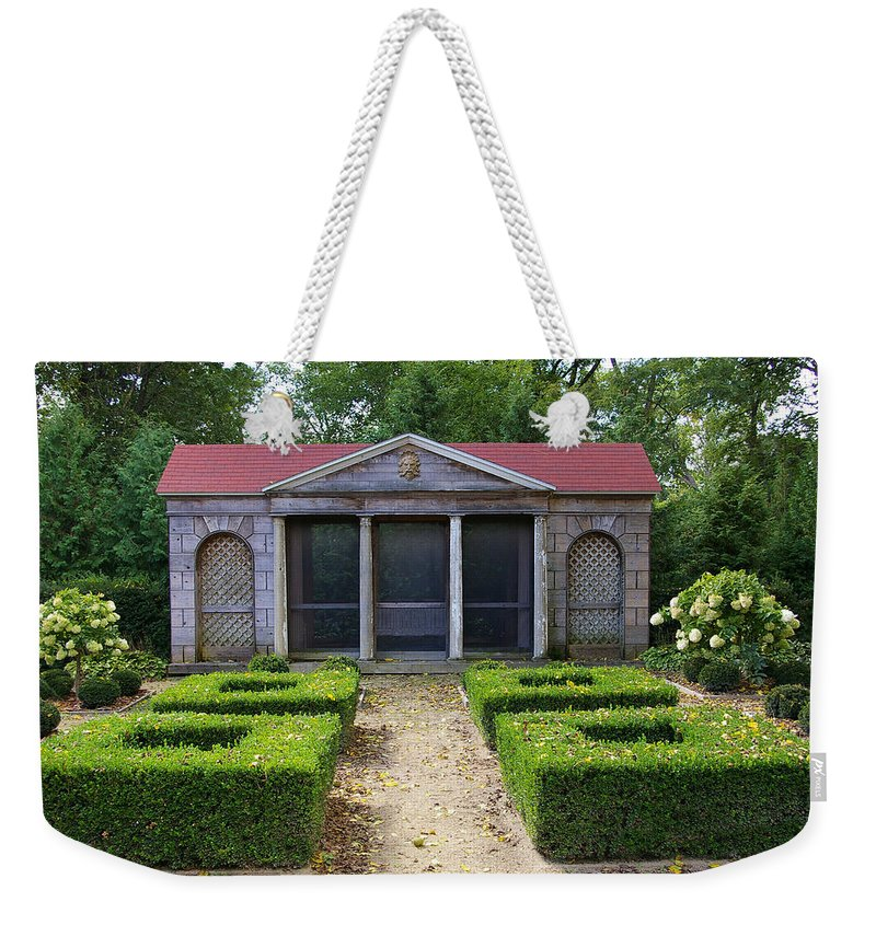 Garden House Weekender Tote Bag featuring the photograph Garden House by Tom Reynen