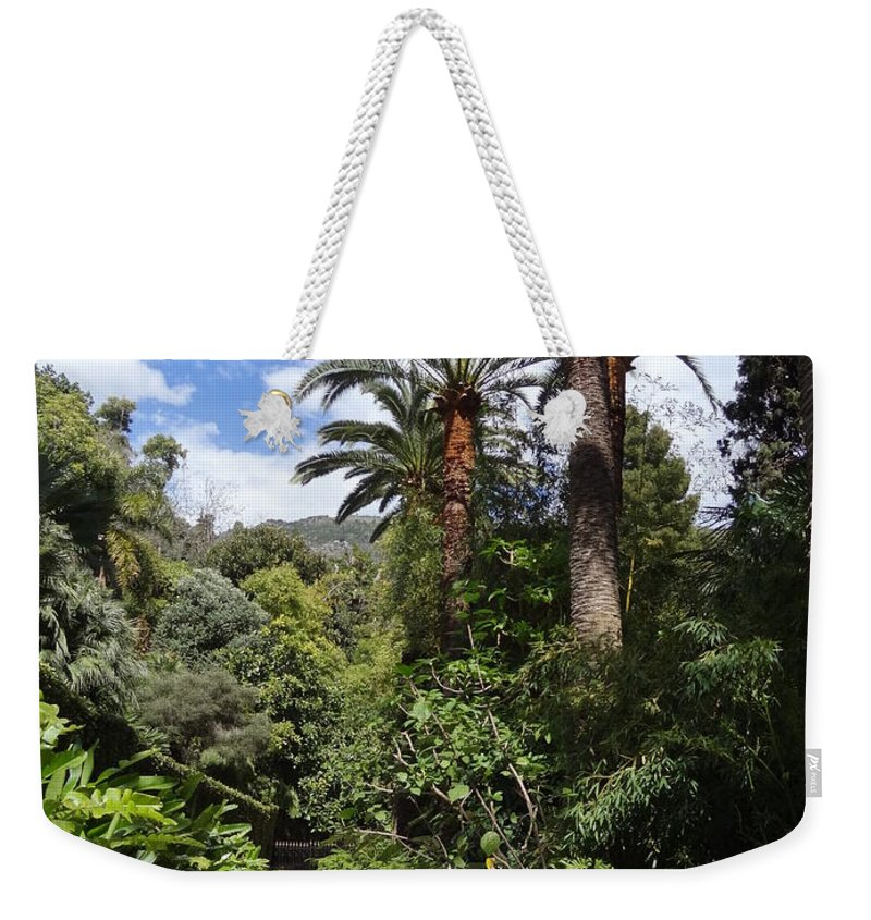 Weekender Tote Bag featuring the photograph Garden In Menton by Andres Chauffour