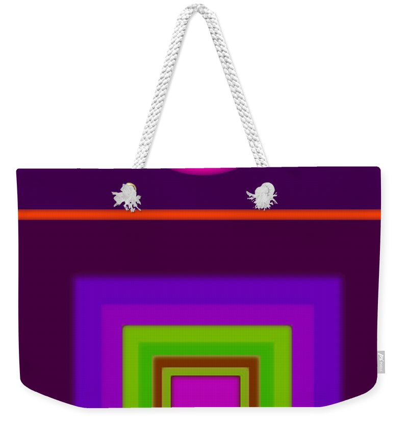 Classical Weekender Tote Bag featuring the digital art Garden Mauve by Charles Stuart