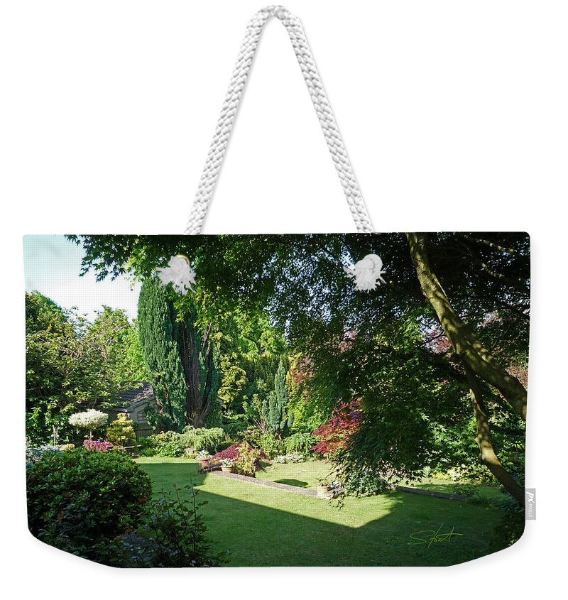 Garden Weekender Tote Bag featuring the photograph Garden Morning by Charles Stuart