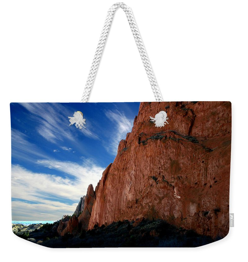 Garden Of The Gods Weekender Tote Bag featuring the photograph Garden Of The Gods by Anthony Jones