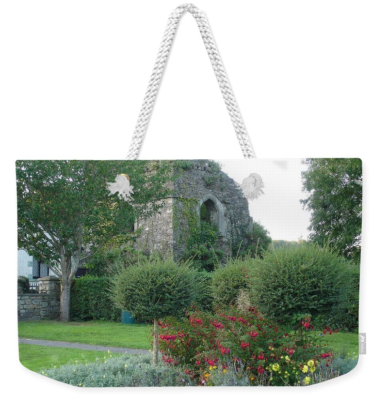 Inistioge Weekender Tote Bag featuring the photograph Garden Path by Kelly Mezzapelle
