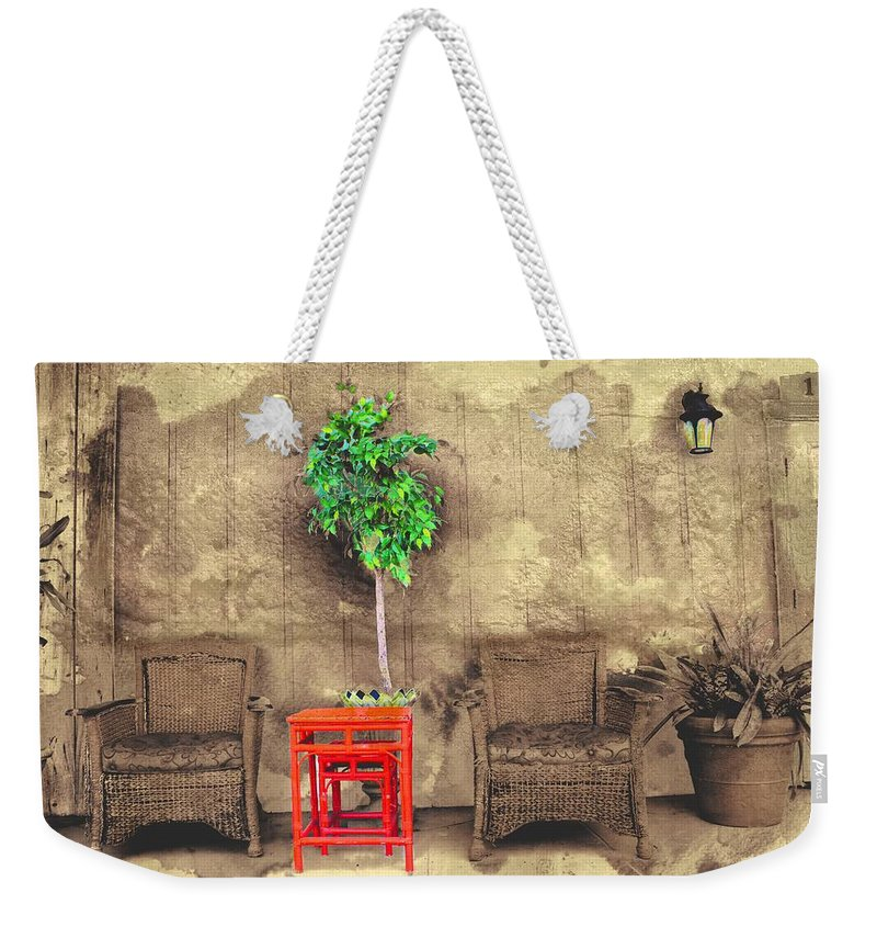 Garden Weekender Tote Bag featuring the photograph Garden View Series 37 by Carlos Diaz